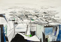 ursula-slum-II-kohle-collage-70-x-100-cm